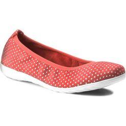 Baleriny CAPRICE - 9-22142-20 Red Dots 521. Czerwone baleriny damskie zamszowe Caprice, na płaskiej podeszwie. W wyprzedaży za 139,00 zł.