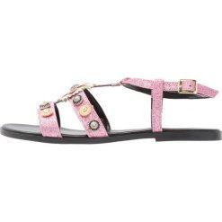Rzymianki damskie: Fiore di Lucia Milano PATOS Sandały glitter rosa