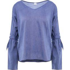 BOSS CASUAL EQUILI Bluzka open blue. Niebieskie bluzki asymetryczne BOSS Casual, z bawełny, casualowe. Za 419,00 zł.