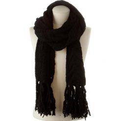 Chusty damskie: Chusta w kolorze czarnym – 180 x 30 cm