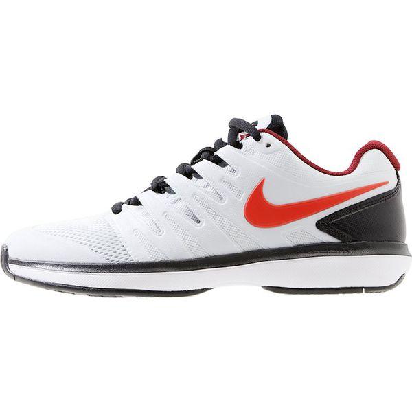 Nike Performance AIR ZOOM PRESTIGE HC Obuwie multicourt pure platinumhabanero redblack