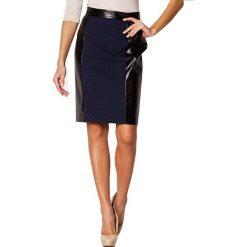 Odzież damska: Spódnica Figl w kolorze granatowo-czarnym