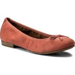 Baleriny TAMARIS - 1-22116-20 Coral Suede 562. Czerwone baleriny damskie zamszowe Tamaris. W wyprzedaży za 179,00 zł.