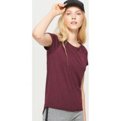Gładka koszulka BASIC - Bordowy. Czerwone t-shirty damskie marki Cropp, l. Za 19,99 zł.