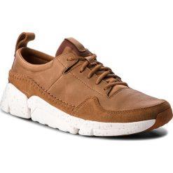 Derby męskie: Półbuty CLARKS - Triactive Run 261322847 Tan Leather