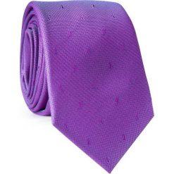 Krawat KWFR001774. Fioletowe krawaty męskie Giacomo Conti, paisley, z mikrofibry. Za 69,00 zł.