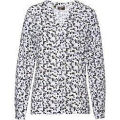 Bluzki damskie: Bluzka z nadrukiem bonprix czarno-szaro-biały z nadrukiem