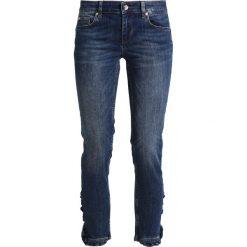 Liu Jo Jeans BOTTOM UP RUFFLE  Jeansy Slim Fit blue. Niebieskie rurki damskie Liu Jo Jeans. W wyprzedaży za 449,25 zł.