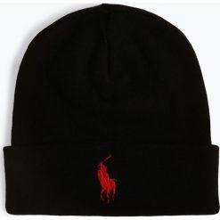 Polo Ralph Lauren - Czapka męska, czarny. Czarne czapki męskie marki Polo Ralph Lauren, z haftami, z bawełny, klasyczne. Za 179,95 zł.