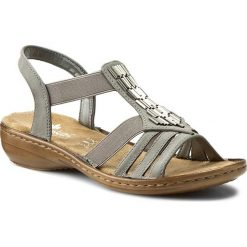 Rzymianki damskie: Sandały RIEKER – 60800-42 Grey