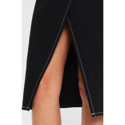 Spódniczki: Weekday PANEL SKIRT Spódnica z zakładką black