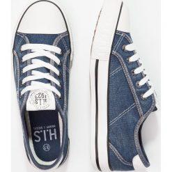Trampki damskie slip on: H.I.S Tenisówki i Trampki navy washed jeans
