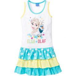 """Sukienki dziewczęce: Sukienka """"Frozen"""" bonprix biały z nadrukiem"""