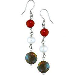 Kolczyki damskie: Kolczyki z perłami i koralami