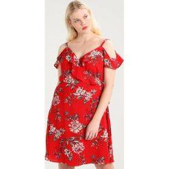 Sukienki hiszpanki: City Chic DRESS WILD FLORAL Sukienka letnia red