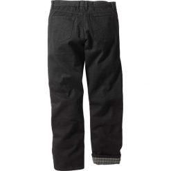 """Dżinsy ocieplane """"CLASSIC FIT"""" bonprix czarny. Czarne jeansy męskie regular bonprix. Za 124,99 zł."""