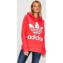 Adidas Originals - Bluza. Szare bluzy rozpinane damskie adidas Originals, z nadrukiem, z bawełny, z kapturem. Za 279,90 zł.