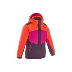 Kurtka narciarska 500. Fioletowe kurtki męskie marki KIPSTA, m, z elastanu, z długim rękawem, na fitness i siłownię. Za 169,99 zł.