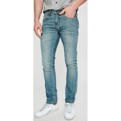 Dickies - Jeansy. Szare jeansy męskie z dziurami marki Dickies, na zimę, z dzianiny. Za 289,90 zł.