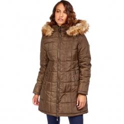 Płaszcz zimowy w kolorze khaki. Czerwone płaszcze damskie zimowe marki Cropp, l. W wyprzedaży za 227,95 zł.