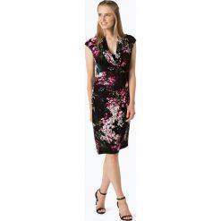 Adrianna Papell - Sukienka damska, czarny. Czarne sukienki hiszpanki Adrianna Papell, w kwiaty, z dekoltem woda. Za 249,95 zł.