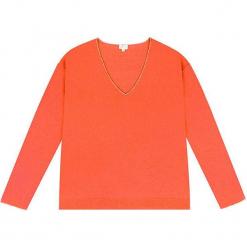 Sweter kaszmirowy w kolorze pomarańczowym. Brązowe swetry klasyczne damskie marki Ateliers de la Maille, z kaszmiru. W wyprzedaży za 500,95 zł.