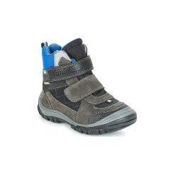 Śniegowce Dziecko Primigi  PNA 24355 GORE-TEX. Czarne buty zimowe chłopięce marki ecco, z gore-texu, na sznurówki. Za 349,00 zł.