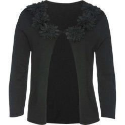 Sweter rozpinany z kwiatową aplikacją bonprix czarny. Białe kardigany damskie marki Reserved, l. Za 129,99 zł.