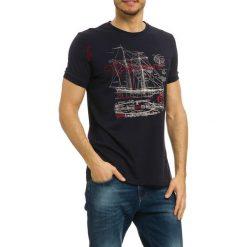 T-shirty męskie z nadrukiem: T-shirt w kolorze czarnym