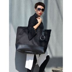 Torba NUMERO2. Czarne torebki klasyczne damskie marki Pakamera, ze skóry, duże. Za 289,00 zł.