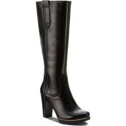 Kozaki SERGIO BARDI - Carini FW127270017DP 101. Czarne buty zimowe damskie Sergio Bardi, ze skóry, przed kolano, na wysokim obcasie, na obcasie. W wyprzedaży za 259,00 zł.
