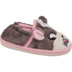 Kapcie dziecięce Bobbi-Shoes szare. Szare kapcie dziewczęce Bobbi-Shoes, z materiału. Za 39,90 zł.