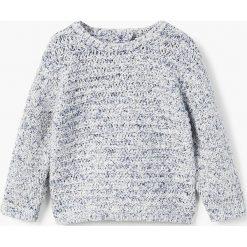 Mango Kids - Sweter dziecięcy Salpi 80-104 cm. Szare swetry chłopięce Mango Kids, z bawełny, z okrągłym kołnierzem. Za 69,90 zł.