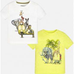 Mayoral - T-shirt dziecięcy 68-98 cm (2-Pack). Białe t-shirty męskie z nadrukiem Mayoral, z bawełny. Za 79,90 zł.