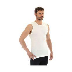 Koszulki sportowe męskie: Brubeck Koszulka męska bez rękawów Comfort Wool kremowa r. XL (SL10160)
