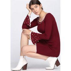 Bordowa Sukienka Ball Gowns. Czerwone sukienki dzianinowe Born2be, na jesień, l. Za 89,99 zł.