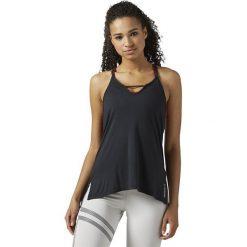 Reebok Koszulka damska  Favorite Strappy TA Sanros czarna  r. XS (BR4296). Bluzki asymetryczne Reebok, xs. Za 121,82 zł.