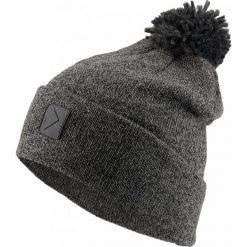 Czapka męska CAM602 - głęboka czerń  melanż - Outhorn. Czarne czapki zimowe męskie Outhorn. W wyprzedaży za 24,99 zł.