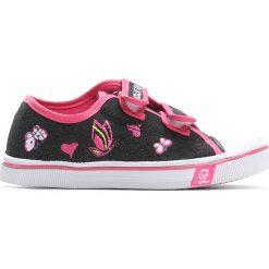 Czarne Trampki Pink Mountain. Czarne buty sportowe dziewczęce Born2be, z denimu, z okrągłym noskiem. Za 29,99 zł.