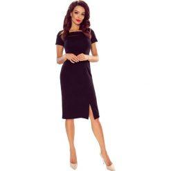 TAMINA elegancka sukienka z siateczkową wstawką czarna. Czarne sukienki balowe Bergamo, do pracy, midi. Za 149,00 zł.