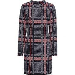 Sukienka dzianinowa bonprix ciemnoniebiesko-czerwono-biały w paski. Niebieskie sukienki dzianinowe marki bonprix, w paski, midi. Za 119,99 zł.