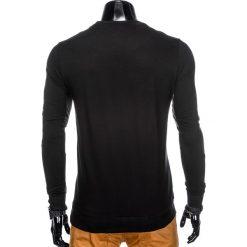 BLUZA MĘSKA BEZ KAPTURA B808 - CZARNA. Czarne bluzy męskie rozpinane marki Ombre Clothing, m, z bawełny, bez kaptura. Za 49,00 zł.