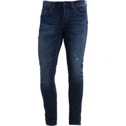 Only & Sons ONSWARP CAMP Jeans Skinny Fit dark blue denim. Niebieskie jeansy męskie marki Only & Sons. W wyprzedaży za 152,10 zł.