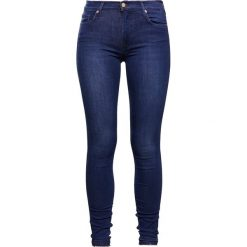 Rurki damskie: 7 for all mankind UNROLLED Jeans Skinny Fit blue denim