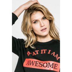 Noisy May - Bluza Winner. Szare bluzy z nadrukiem damskie marki Noisy May, l, z bawełny, bez kaptura. W wyprzedaży za 49,90 zł.