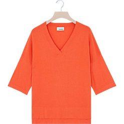 Swetry damskie: Sweter w kolorze pomarańczowym
