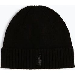 Polo Ralph Lauren - Czapka męska, czarny. Czarne czapki męskie marki Polo Ralph Lauren, z haftami, z dzianiny, klasyczne. Za 229,95 zł.