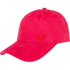 Czapka męska CAM209 - czerwony. Czerwone czapki z daszkiem męskie 4f, w paski, z materiału. Za 29,99 zł.