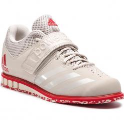 Buty adidas - Powerlift.3.1 CQ1773 Chalk Pearl/Chalk Pearl/Scarlet. Brązowe buty sportowe męskie Adidas, z materiału, na fitness i siłownię. Za 399,00 zł.
