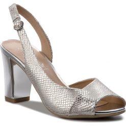 Sandały damskie: Sandały CAPRICE – 9-28314-20 Silver Reptile 991